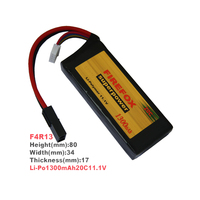 1pcs 100% Orginal Firefox 11.1V 1300mah 20C Lipo Lithium Mini RC Battery F4R13