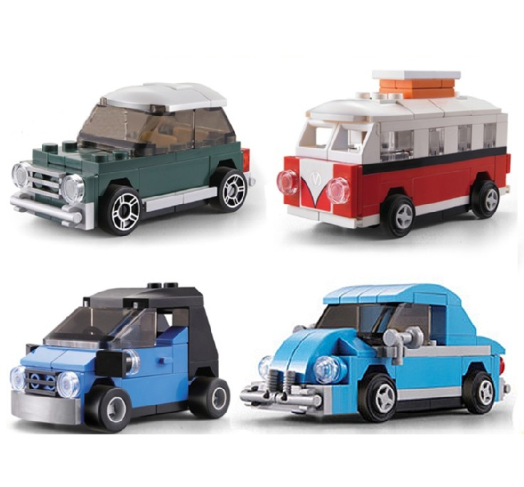 DECOOL City Creator VW Beetle Mini Pull back Car Building Blocks Sets Bricks Model Kids Toys Compatible Legoings