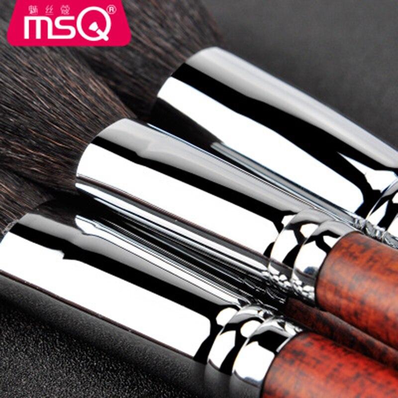 Msq alta qualidade kit de pincéis maquiagem profissional conjunto cosméticos sobrancelha blush rosto pó lábio sombra ferramentas - 4