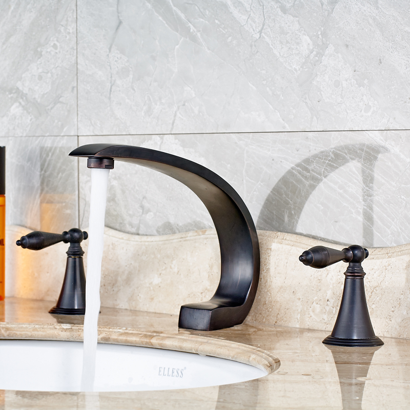 Best Quality Two Handle Bath Sink Faucet Bathroom Basin Mixer Tap ...