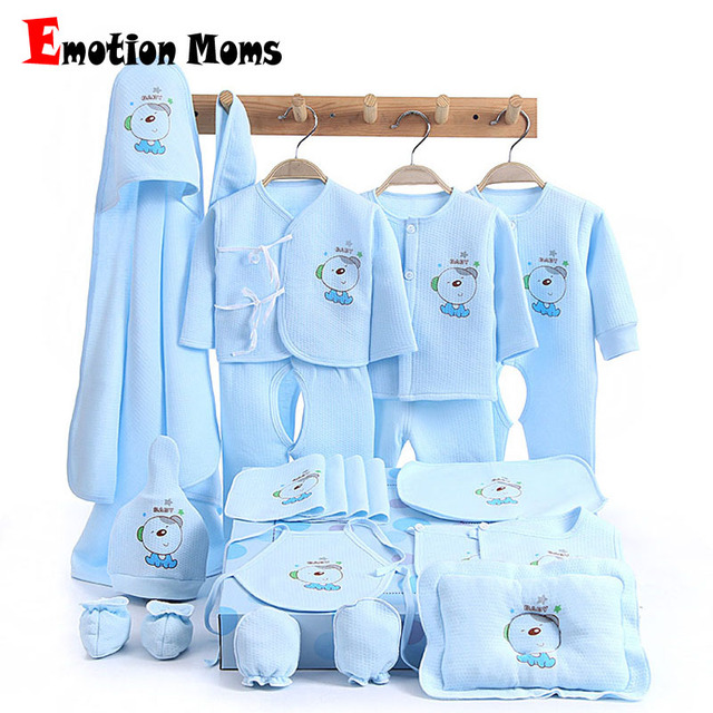 fdf9dd0d29de8 Emotion Moms 21PCS/set newborn baby girls clothes cotton 0-6months infants  baby girl boys clothing set baby gift set without box