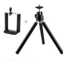Aluminum Metallic Mini Desk Tripod Leg for Head Selfie Stick Extendable Monopod for Smartphones Mini Digicam