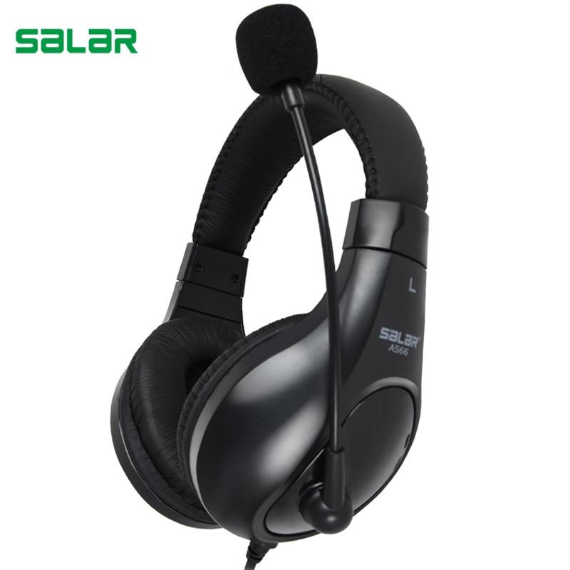 Salar A566 Deep Bass Gaming Headset Auricular de La Venda de Auriculares Estéreo con Micrófono para PC Gamer Computadoras