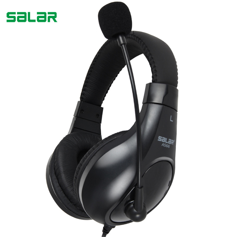 Salar A566 Deep Bass Gaming Headset Earphone Headband Stereo Headphones with Mic for PC Gamer Computers image