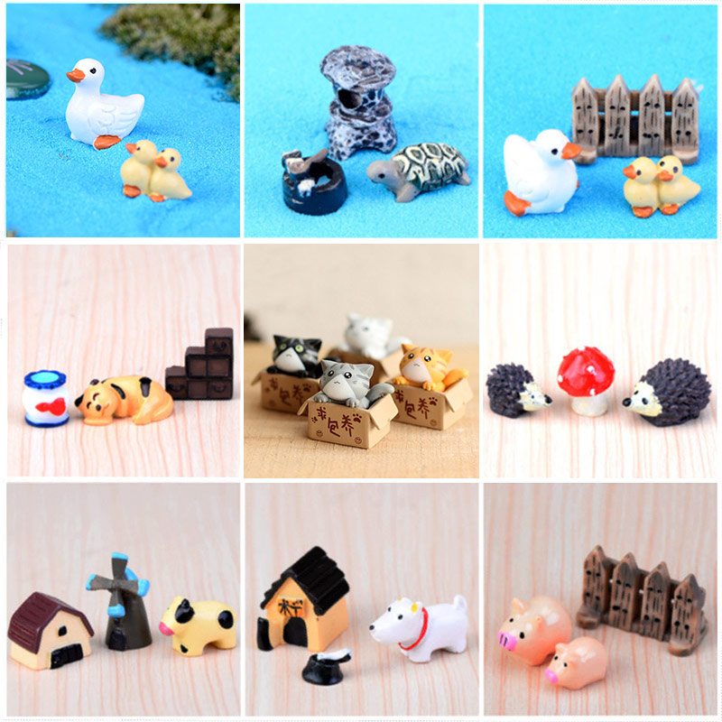 Deer Garden Ornament Owls Popular Animal Figurines 1PC High Quality Craft Home Decoration Miniatures Pig Panda Cute Horse Resin