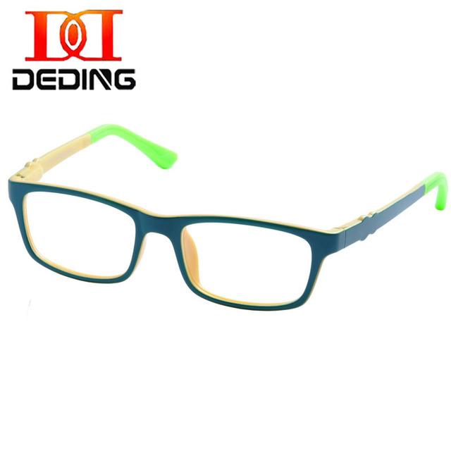 DEDING kids Frame Ótico Rodada w/Dobradiça de Mola Tamanho 45mm, TR90 Dobrável Óculos Crianças Duráveis Óculos de Segurança Dos Meninos FrameDD1385