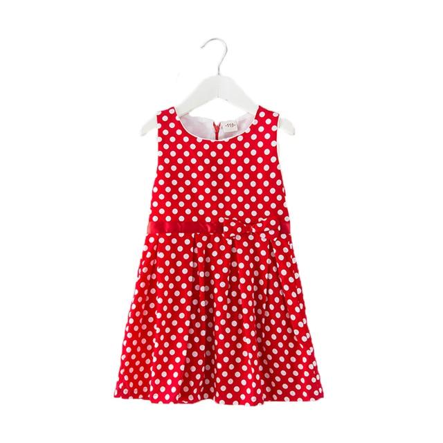 4dfac5696fd0 Summer spring Children Clothing Girls Polka Dot Dress White Dots ...