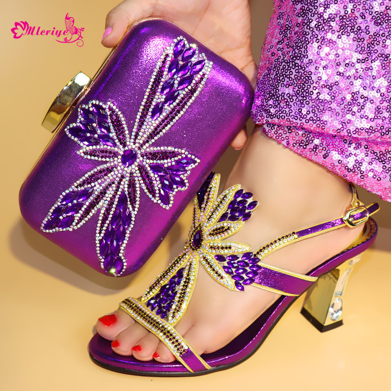 Women Shoes and Bag Set In Italy Nigerian Women Wedding Shoes and Bag Set with Rhinestone Matching Shoes and Bag Set In Heels тумба навесная акватон севилья 80