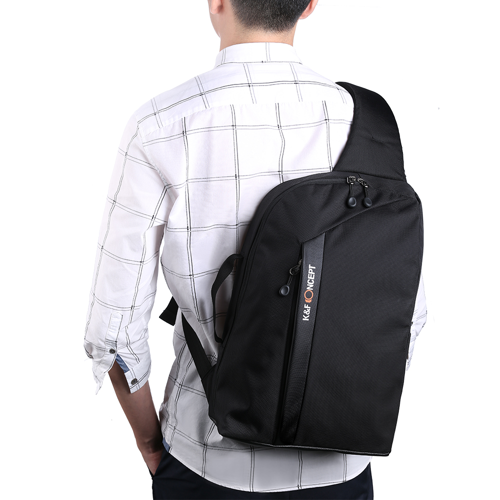 K&F CONCEPT Camera Sling Backpack for DSLR Mirrorless Cameras Lens Accessories and 13.3'' Laptop with Removable Inner Bag