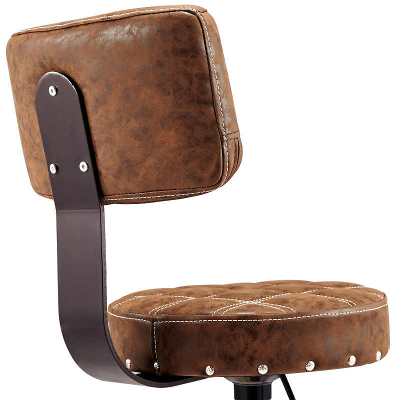 2019 調節可能な理髪椅子油圧ローリングスイベルスツール椅子サロンスパバーカフェタトゥー顔マッサージサロン家具