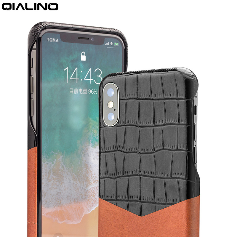 QIALINO Fashion Ultra Thin Case for iPhone X / 10 Genuine Leather Back Bag Cover for iPhone x Luxury Phone Case for 5.8 inchQIALINO Fashion Ultra Thin Case for iPhone X / 10 Genuine Leather Back Bag Cover for iPhone x Luxury Phone Case for 5.8 inch