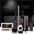 QIbest Brand Make up Set Waterproof lasting Color eyeliner+Eyeliner+Natural eyebrow pencil+Charm lipstick +Eye shadow 4184