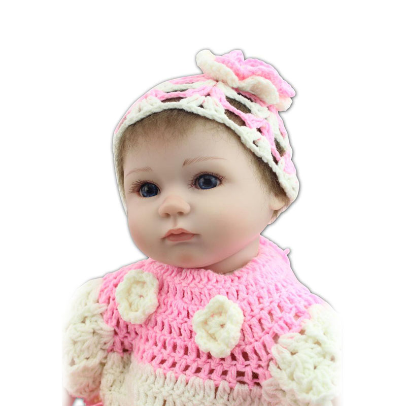 Soft Silicone Pink Princess Reborn Doll Babies 17'' Real Looking Baby Alive Doll Kids Toy Free Handmade Doll Clothing For Sale princess 132502 pink