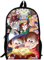 17inch gravity falls Backpack double layer children School bags for Boys and Girls Kids Cartoon movie bag