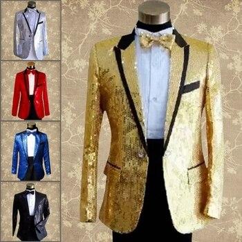 paillette male master Sequins Dresses Stage Costumes Men terno Suit MC Host Clothing Singer Suits & Blazer show jacket outerwear цена 2017