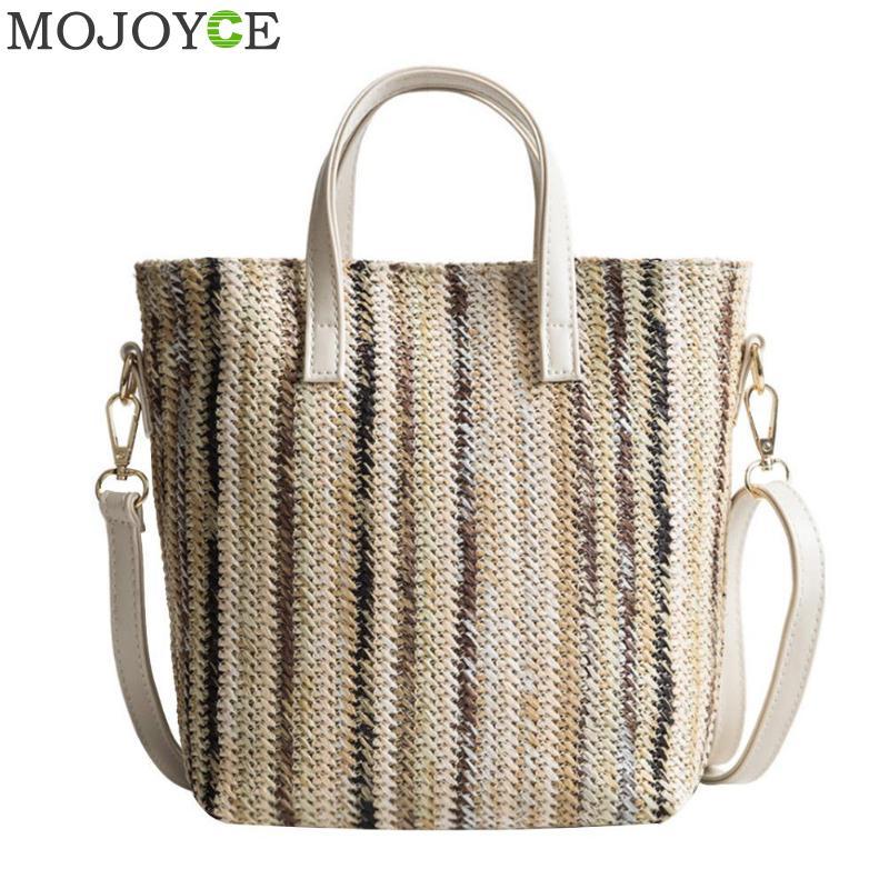 Summer Women Durable Weave Straw Beach Bags Feminine Linen Woven Bucket Bag Casual Tote Handbags Knitting Rattan Shoulder Bags стоимость
