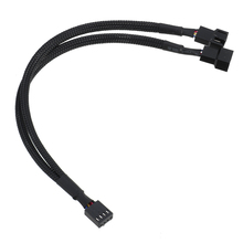 Hot 4pin PMW Computer Fan Y Splitter Cable PC Fan Conversion Cable 1 to 2 Cable Connector Adapter 4Pin Fan Extension Cable Line