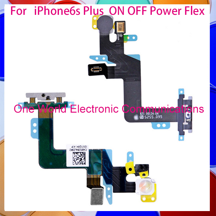 50pcs/lot One World New Original For IPhone 6s Plus ON OFF Flex Mute Volume Switch Connector Ribbon Parts Free Shipping