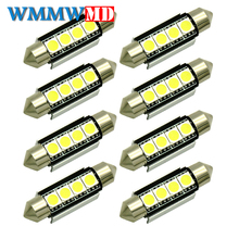 8pcs High Quality 31mm 36mm 39mm 42mm C5W C10W 5050LED CANBUS Car Festoon Lights Auto Interior