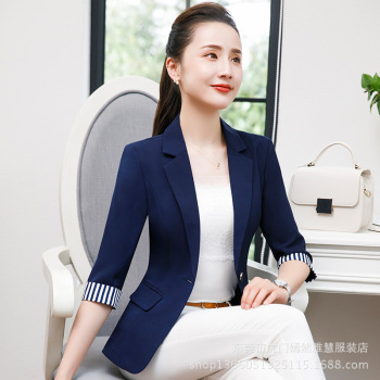 8eb230c5853 2018 Summer Autumn New Office Ladies Blazers Women Plus size 4XL Business  Pocket Suit Female Navy Black Elegant Blaser Feminino