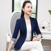 2018 Summer Autumn New Office Ladies Blazers Women Plus size 4XL Business Pocket Suit Female Navy Black Elegant Blaser Feminino