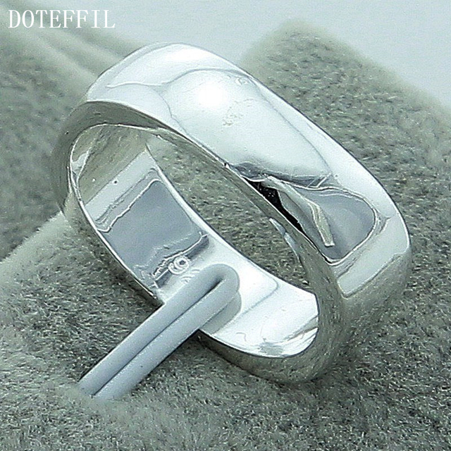 Hot Sales 925 Sterling Silver Rings Jewelry Brand Fashion Simple Women Men Jewel