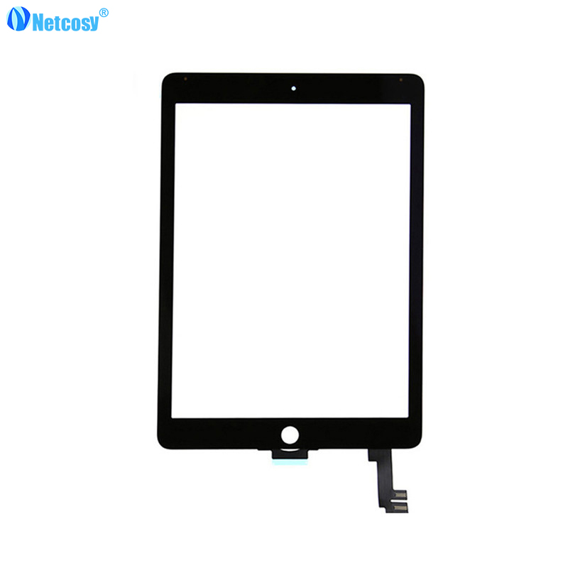 все цены на Netcosy Black / White touch panel For ipad Air2 A1567 A1566 Touch Screen Glass Digitizer Replacement parts for iPad Air 2 онлайн