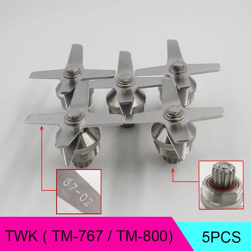 5pcs TWK TM 767 800 67 02 Blades Knife Ice Crusher for Juicer Blender Spare Parts