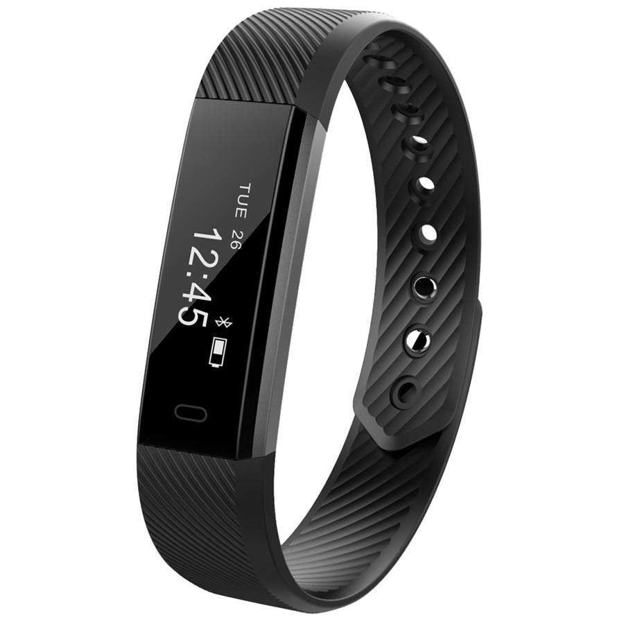 imágenes para Id115 control de actividad sleep monitor de pulsera elegante reloj de pulsera deportivo de fitness vibración despertador smartband pk mi band2
