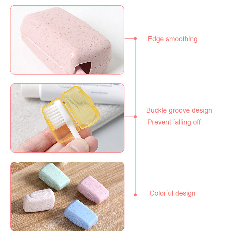 Portable Toothbrush Cover Holder Tooth Brush Cap Case Health Germproof Travel Hiking Camping Toothbrushes Protector QRD88