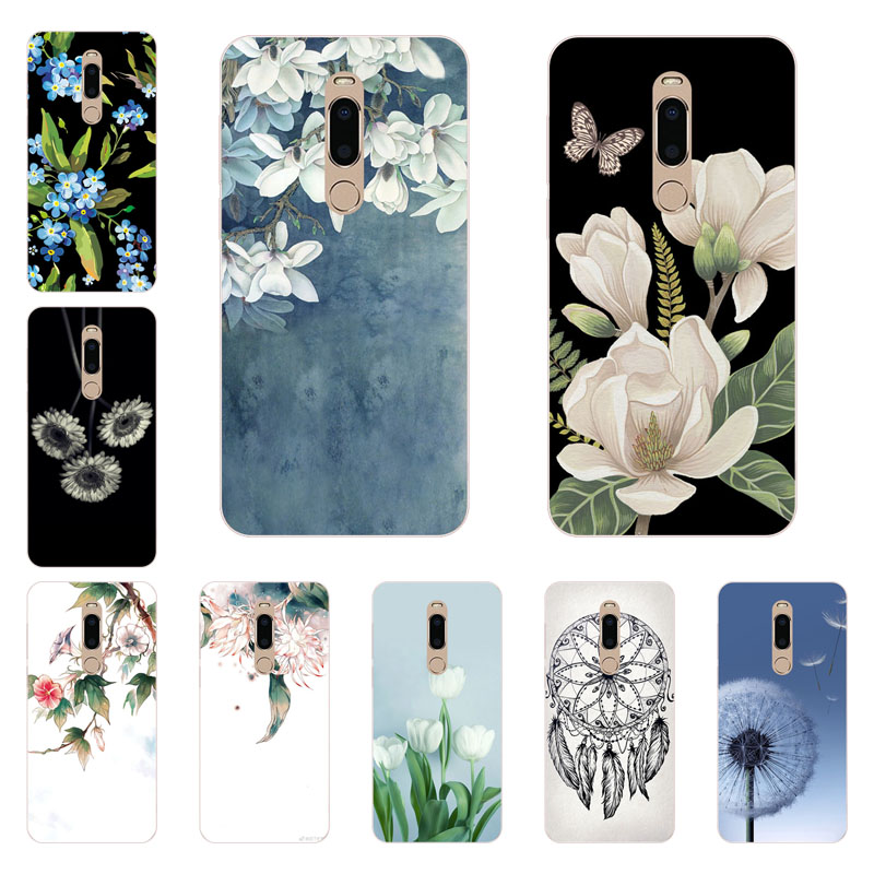 meizu m6t Case,Silicon White Floral Painting Soft TPU Back Cover for meizu m6t Phone protect Bags shell
