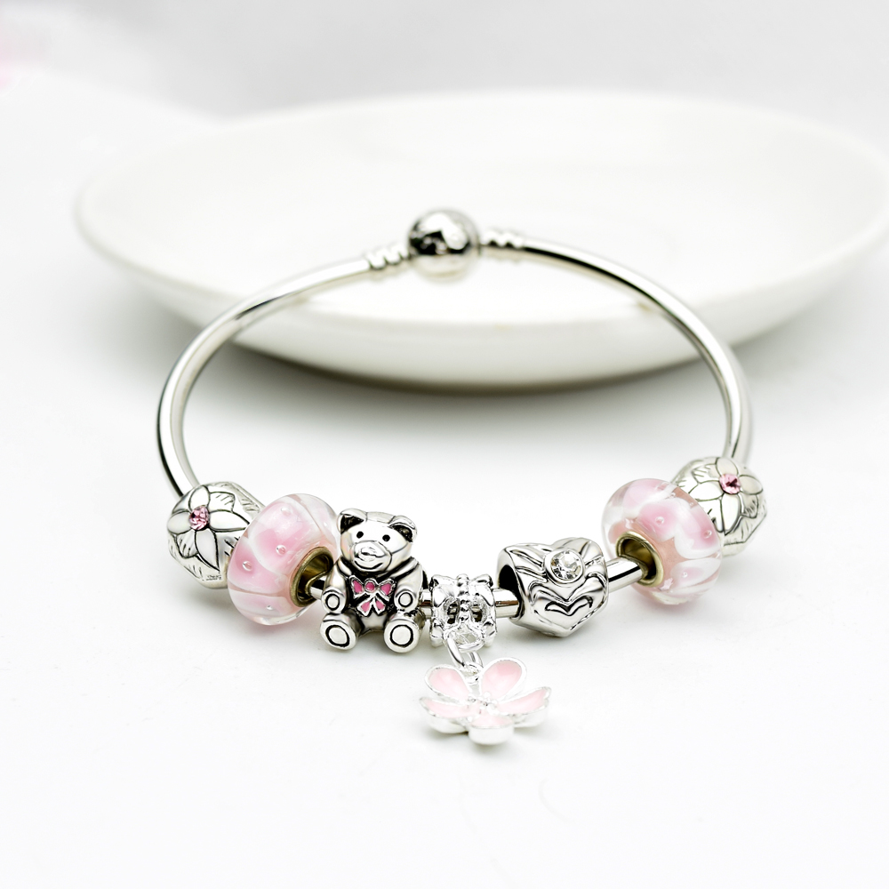 Charms Beads Fit Pandora Bangle Bracelet Making Hole Fashion Charm Bracelets Bangles For Women In From Jewelry Accessories On