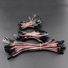 10Pcs 60/100/200/300/600/900mm Servo Extension Lead Wire Cable For RC Futaba JR Male to Female -B116(China)
