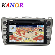 KANOR 2Din 8 Car DVD Multimedia Player Android 5 1 Fit Mazda 6 Ruiyi Ultra GPS