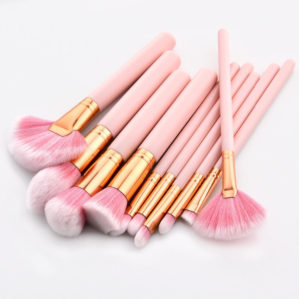 4pcs 10pcs premium makeup brush set high quality soft - Natural horse hair interior upholstery brush ...