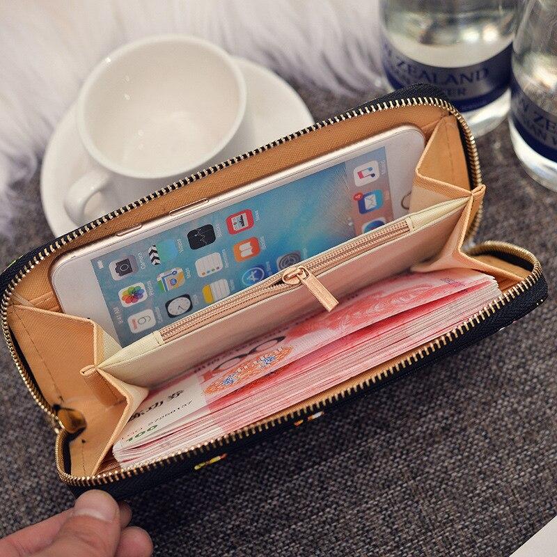 idade flor cartão zipper bolsa Purse Women : Wallet Women Luxury Brand