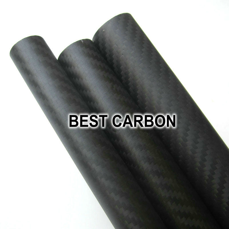 Free shiping 40mm x 37mm x 2000mmm High Quality Twill 3K Carbon Fiber Fabric Wound Tube free shiping 2pcs x 30mm x 27mm x 2000mmm high quality 3k carbon fiber fabric wound tube