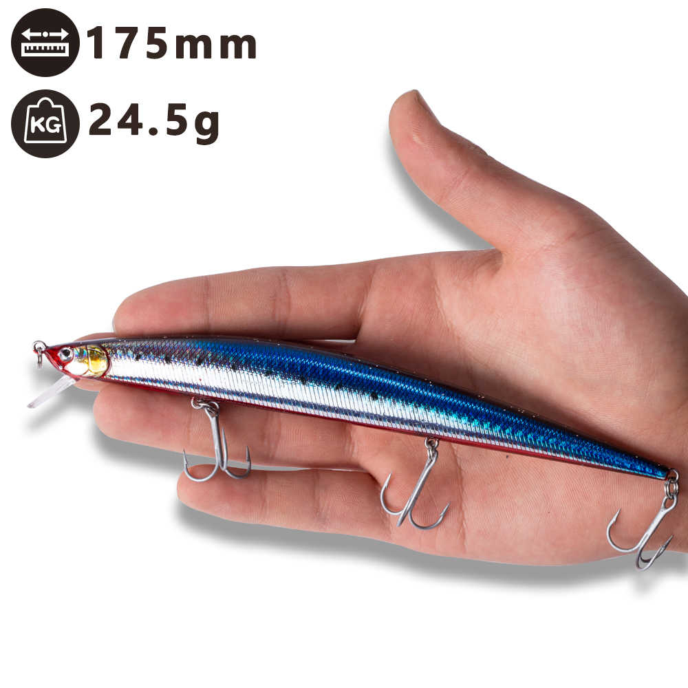 Hunthouse floating jerkbait Tide Slim Minnow Surf fishing lures hard baits seabass sea fishing 175mm japan for sea bass