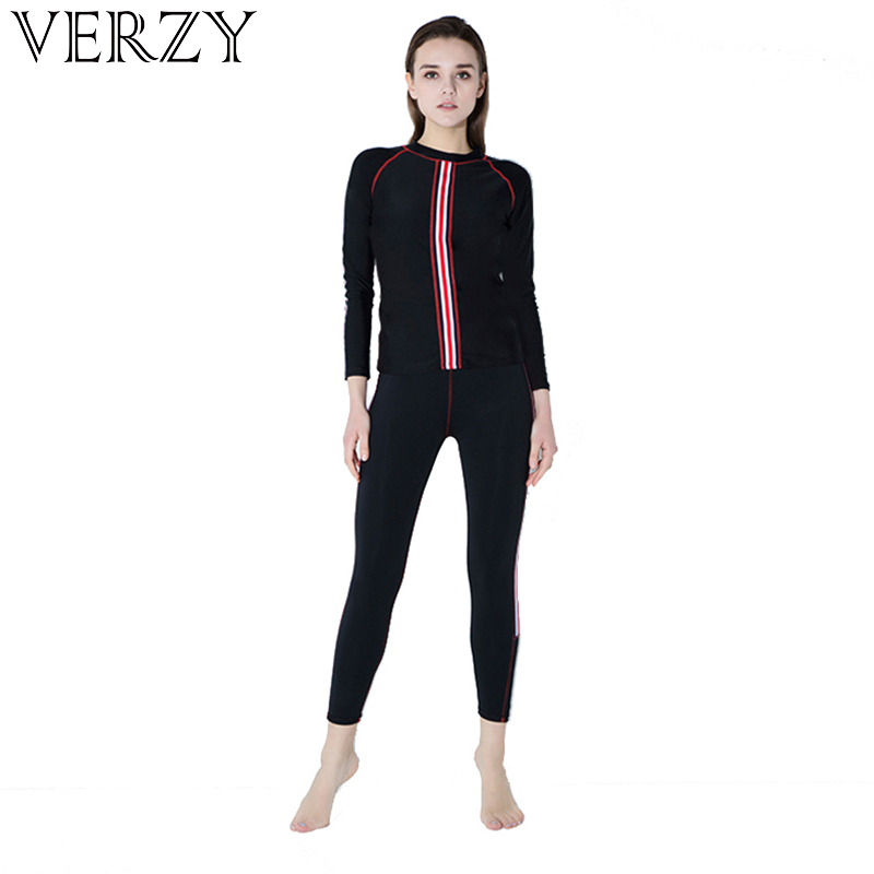 все цены на 2018 new arrivals sports two pieces surf clothes wetsuit 3mm long sleeves diving suits swimming neoprene for women body suits