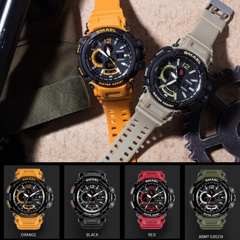 Мужские спортивные наручные часы SPOVAN, спортивные часы из натуральной кожи с компасом/Pacer/водонепроницаемой светодиодной подсветкой - 6