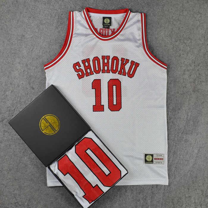 0af18513d30 SLAM DUNK Cosplay Costumes Shohoku NO1-15 Sakuragi Hanamichi School  Basketball Team Jersey Tops Shirt