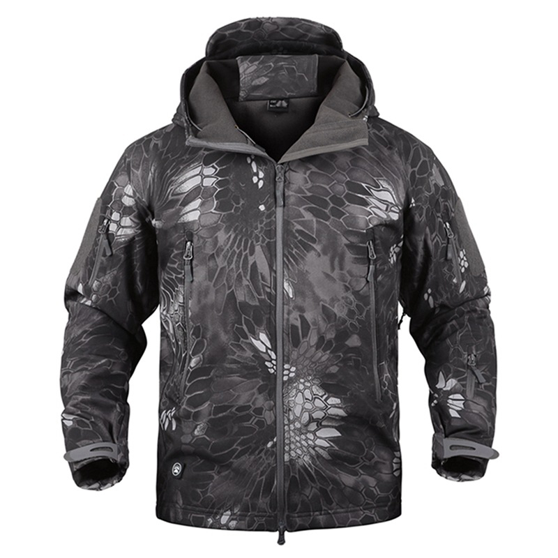 Jacket Coat Hoody Shark-Skin Army Men Softshell Outdoor Tactical Waterpoof Winter Camouflage
