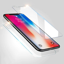 2pcs/lot front+back Tempered Glass For iPhone X 7 5S 6 6s 8 plus Screen Protector Film Full Body Glass On the For iPhone 8 Case(China)