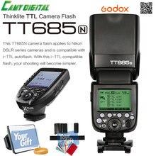 Godox i-TTL II Autoflash TT685N Camera Flash 2.4G wireless HSS 1/8000s GN60+2.4G Wirless X System Xpro-N Kit For Nikon Cameras