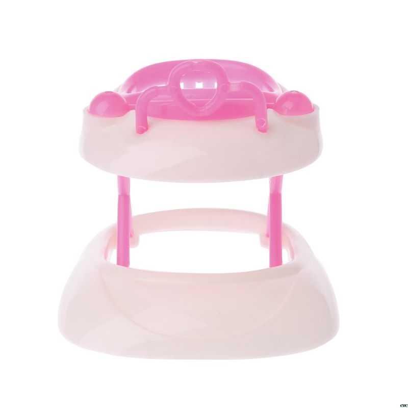 Baru Merah Muda Plastik Walker untuk Barbie Doll House Rumah Boneka Miniatur Aksesoris
