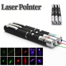 Red/blue/green Violet Laser Pen Teaching Pointer Presenter Beam Light High Power Hunting Lazer Bore Sight Device Free Ship