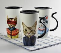 Кот Кружки ручной Творческий Керамика Кофе завтрак молоко вода кружка фарфоровая чашка дома Посуда для напитков уникальный подарок