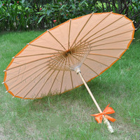 [ Fly Eagle ]100pcs Orange Japanese Oriental Paper Bamboo Parasol Umbrella KASA Free Shipping # 1688