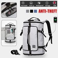 Osmond Multi function Anti theft Laptop Notebook Backpack Password lock+USB Charging Port School Travel Bag Oxford Cloth Unisex