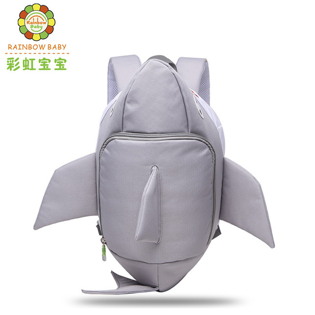 Rainbow Baby 3D Shark Children Backpack Baby Anti Lost School Bags for 2-8  Years